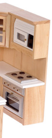 Stove, Oven and Microwave - Oak