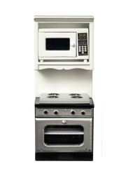 Oven with Microwave - White