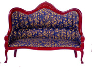 Dollhouse City - Dollhouse Miniatures Victorian Sofa - White Brocade
