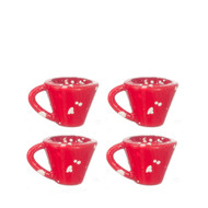 Cups Set - Red Spatterware