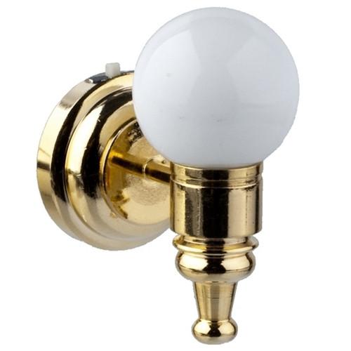 LED White Globe Wall Sconce