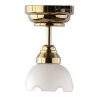 LED Large Frosted Tulip Ceiling Lamp