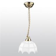 LED White Tiffany Hanging Lamp