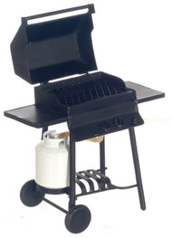 Dollhouse City - Dollhouse Miniatures Barbecue Grill with Propane Tank