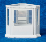 Corner Display Cabinet - White