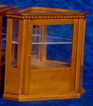 Corner Display Cabinet - Walnut
