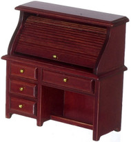 Small Rolltop Desk - Mahogany