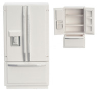 Dollhouse City - Dollhouse Miniatures Modern Fridge - White