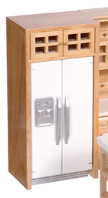 Refrigerator with Cabinet - Oak