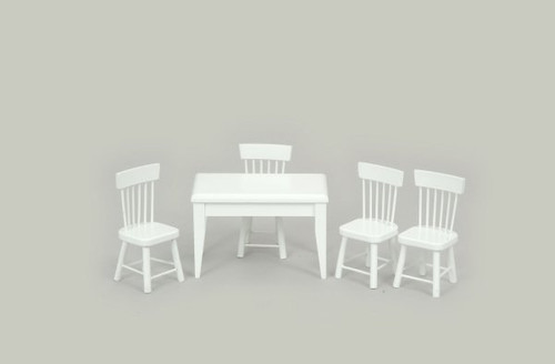 Dining Set - Table and Chairs -White