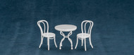 Patio and Table Set - White and Marble