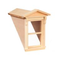 Dollhouse City - Dollhouse Miniatures Small Dormer with Working Window