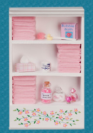 Bath Cabinet - Large and Pink