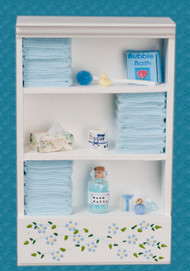 Bath Cabinet - Large and Blue