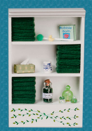 Bath Cabinet - Large and Dark Green