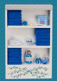 Bath Cabinet - Large and Dark Blue