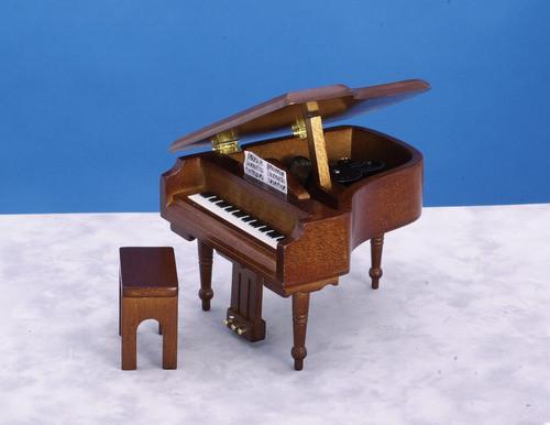 Dollhouse City - Dollhouse Miniatures Piano Bench - Walnut
