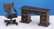 Desk and Chair - Walnut