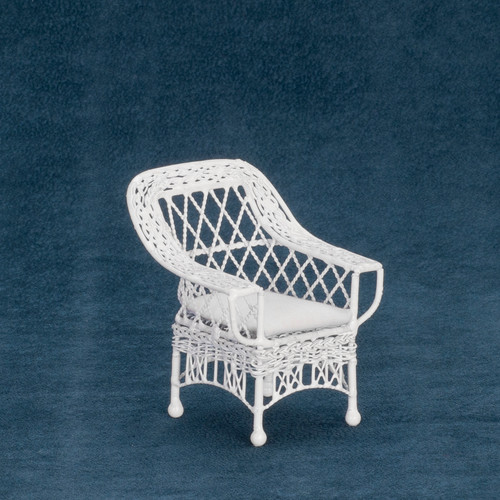 Dollhouse City - Dollhouse Miniatures Bar Harbour Chair - White Wire