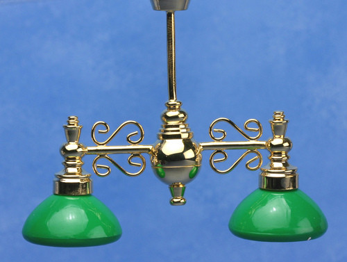 Billiard Chandelier - Green Shade