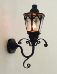 Dollhouse City - Dollhouse Miniatures Black Gothic Coach Lamp