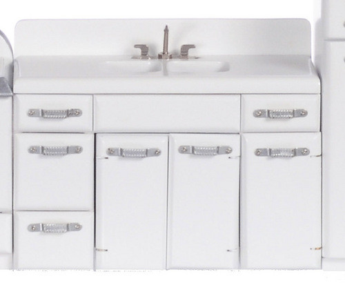 1950's Double Sink - White