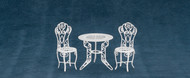 Dollhouse City - Dollhouse Miniatures Table and Chair Set - White