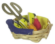Basket with Thread and Scissors