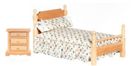 Bed Set - Floral and Oak