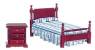 Mahogany Single Bedroom Set - Mahogany