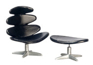 Volther Corona Chair and Ottoman