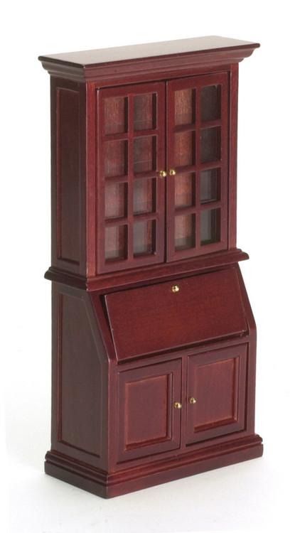 Bookshelf Desk - Mahogany