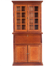 Bookshelf Desk - Walnut
