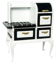 Dollhouse City - Dollhouse Miniatures 1920's Stove - White