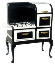 Dollhouse City - Dollhouse Miniatures 1920's Stove - Black