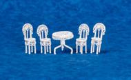 Dollhouse City - Dollhouse Miniatures Mini Patio Set - White Wire