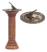 Dollhouse City - Dollhouse Miniatures Sundial - Ancient Gray