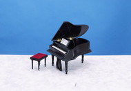 Piano with Stool - Black