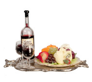 Fruit and Cheese Tray with Wine Set