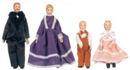 Four pieces Porcelain Doll Family