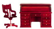 Rolltop Desk Set - Mahogany