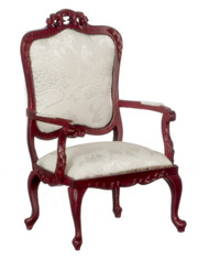 Dollhouse City - Dollhouse Miniatures Fancy Victorian Armchair - Mahogany