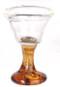 Wine Glass with Amber Stem