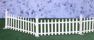 Dollhouse City - Dollhouse Miniatures White Picket Fence