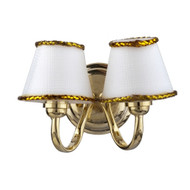 LED Double White Shade Sconce