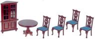Dining Room Set  - Mahogany and Green