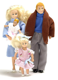 Modern Doll Family - Blonde - 4 pc