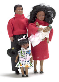 Doll Family Set - Black