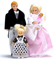 Victorian Doll Family - Blonde - 4 pc