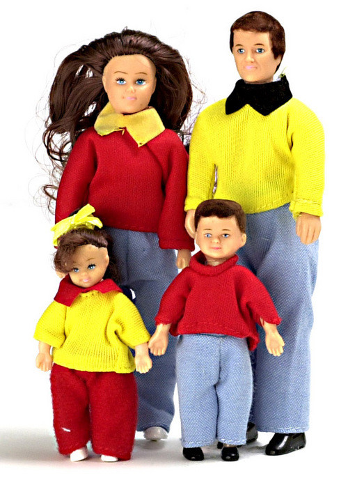 Casual Doll Family - Brunette